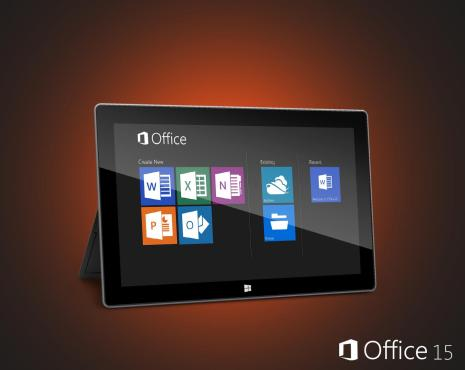 Microsoft Office 15 on Surface